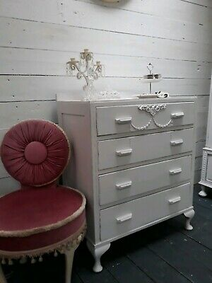 Vintage Painted French Style Chest Of Drawers Shabby Chic CAN ARRANGE COURIER