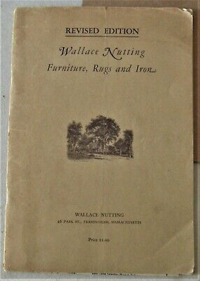 1927 Wallace Nutting antique furniture catalog, with prices, antiques catalogue