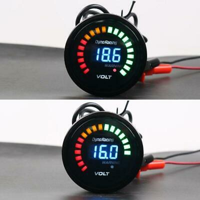 "2"" 52mm Digital Analog Auto Car Voltmeter 12V Voltage Gauge Volt Meter Monitor"