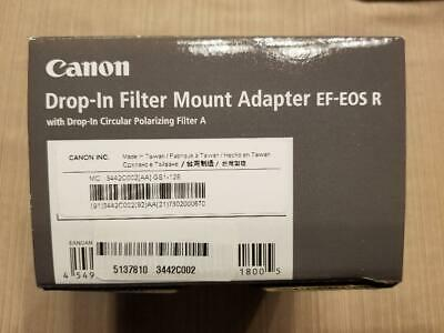 Canon Drop-In Filter Mount Adapter EF-EOS R with Drop-In Circular Po ND Filter A
