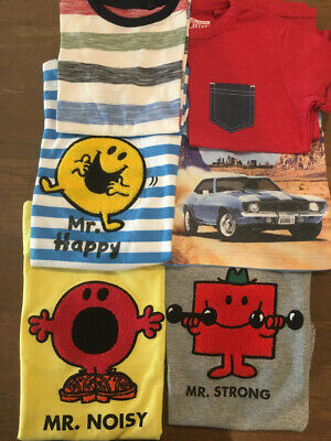 Next - Boys Tops Bundle - Size 4/5 - 6 Items Included - 1 New Top - Others EUC