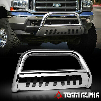 2008-2010 Ford F550 SuperDuty CHROME STAINLESS STEEL FRONT BULL BAR W//SKIT PLATE