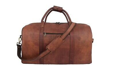 20 In Leather Travel Duffle Bag Luggage Carry-on Handbag Shoulder Holdall Bags