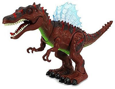Walking Dinosaur Spinosaurus Toy Lights Sounds Moving Figure Boys Christmas Gift