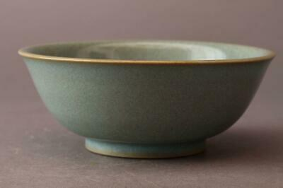 Chinese Old Celadon Bowl / W 14[cm] Antique Vintage / Bowl Dish Ming Yuan Song