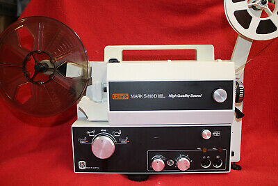 Eumig S-810D Hqs Super 8Mm & Standard 8Mm Sound Movie Projector New 100W Lamp A1