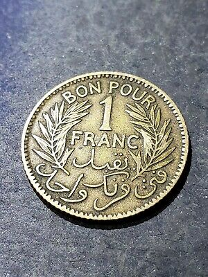 TUNISIA 1921 1 Franc Coin ****YOU GRADE****
