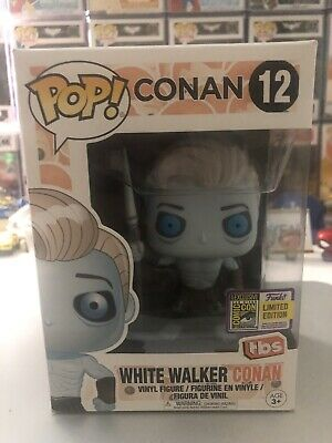 Game Of Thrones The White Walker Conan O'Brien SDCC TBS Funko Pop Excellent Cond