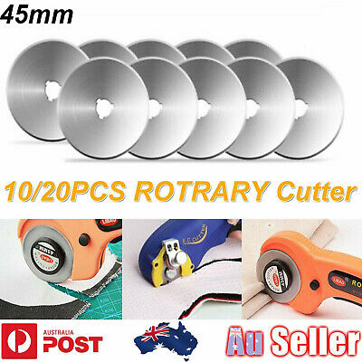 10/20pcs 45mm Circular Cutting Rotary Cutter Refill Blades Sewing Quilting Craft