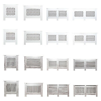 Modern Radiator Cover Wall Cabinet Wood MDF Grill Shelf Traditional Furniture
