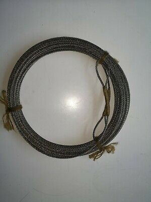 "18m+ AISI 316 3MM Stainless Steel Cable - 2"" Soft Hand Spliced Eye at Each End"