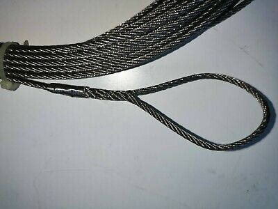 18m+ AISI 316 3MM Stainless Steel Cable with Hand Spliced Eye at Each End