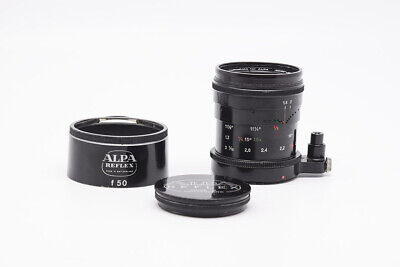 EX+ Alpa MACRO-SWITAR 50mm f/1.8 AR black paint w/hood to Leica M10 M240P M9
