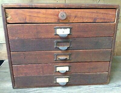 ANTIQUE Wooden Filing DRAWERS