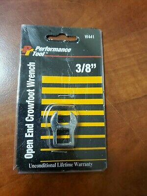 NEW, QTY 10 Performance Tool 3/8 inch Open End Crowfoot Wrench, W441