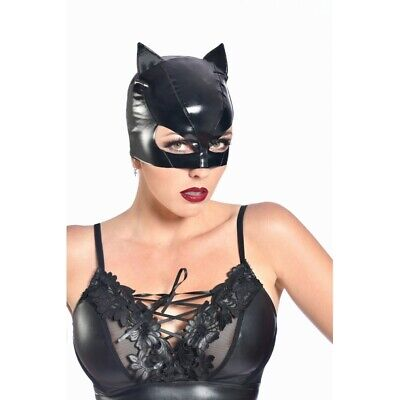 Patrice catanzaro - Sweety - Mask of Small Cat for Catsuit Vinyl Black