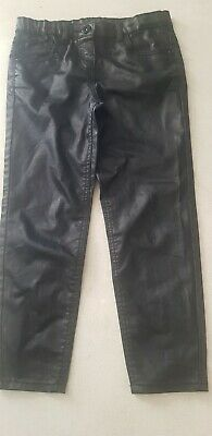 Girls Sheen Black Trousers/pockets,ideal 4 A Party,5-6y