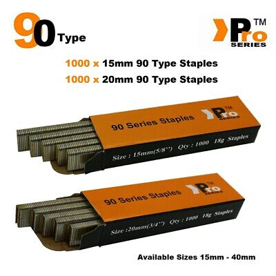 90 Type Staples: Size 15mm + 20mm ( MIXED 2000 Staple Handy Pack )