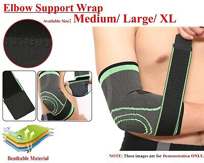 Elbow Support Compression Brace For Tennis Golfers Arm Arthritis Injury Bandage