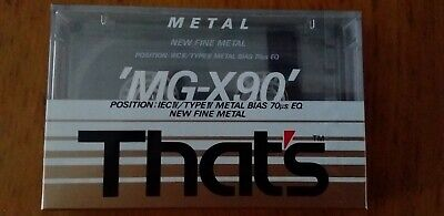 That's Mg-X90 Metal Factory Sealed Audio Cassette Japan