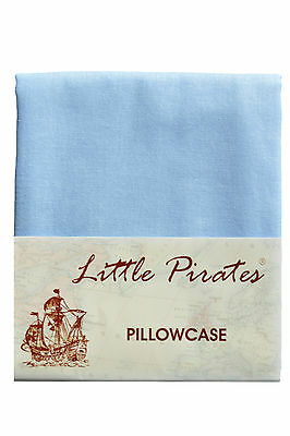 Brand New Baby Cot Bed Pillow Case 60 x 40 - 100% Cotton - Blue