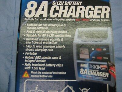 Battery Charger Maypole 6 or 12V - 8A.