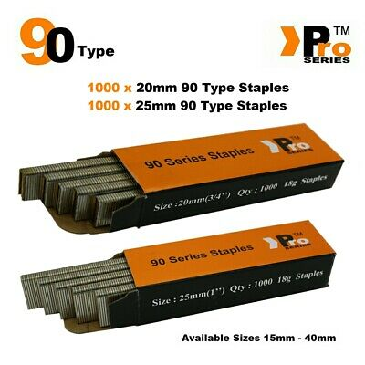 90 Type Staples: Size 20mm + 25mm ( MIXED 2000 Staple Handy Pack )