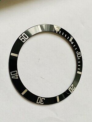 Rolex Bezel Insert Black & Silver/ Rolex Travel Pouch (genuine Items)16610,16800