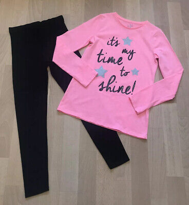 George Neon Pink Top And Leggings Set. 9-10 10-11 Years Worn Once! Next Day Post