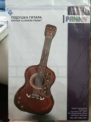 "Panna Counted Cross Stitch Kit Cushion Front ""Guitar"" PD-7011"
