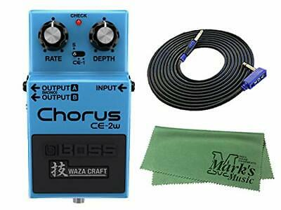 New BOSS WAZA CRAFT Chorus CE-2W + 3m guitar cable VOX VGS-30