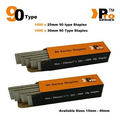 90 Type Staples: Size 25mm + 30mm ( MIXED 2000 Staple Handy Pack )