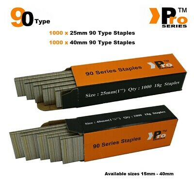 90 Type Staples: Size 25mm + 40mm ( MIXED 2000 Staple Handy Pack )