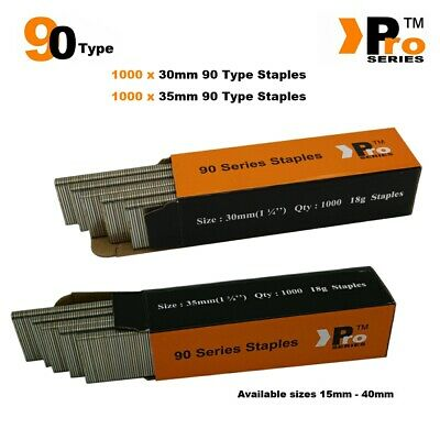 90 Type Staples: Size 30mm + 35mm ( MIXED 2000 Staple Handy Pack )