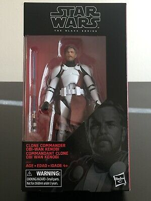 "Star Wars Black Series 6"" Clone Commander Obi Wan Kenobi Walgreens Exclusive!"