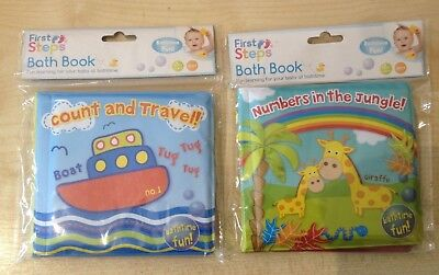 Brand New Baby Bath Books Plastic Coated, Fun Educational Toys For Children