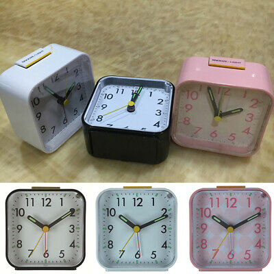 1*Alarm Clock Bedside Travel Luminous Glow In The Dark Silent Easy To Read Nice