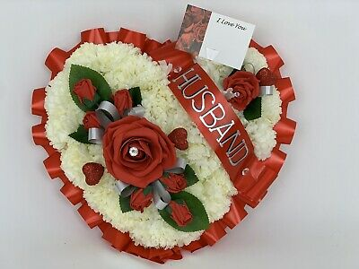Wreath Memorial Grave Tribute Silk Artificial Funeral Flowers Christmas red