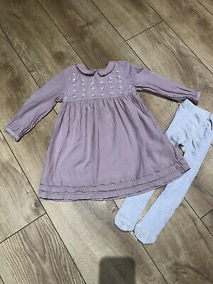 Age 2-3 Girls Next Dress With Tights Party Christmas