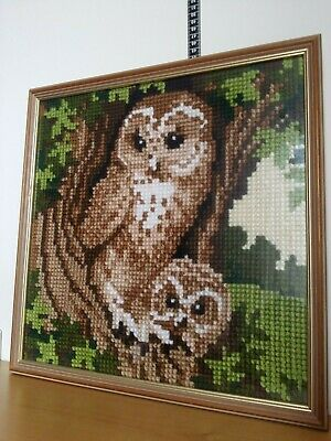 Large Tapestry picture Owl framed