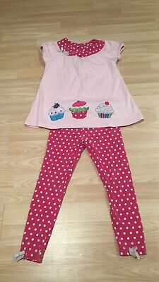 ~Girls CUPCAKE OUTFIT by RARE EDITIONS age 6x 5-6 Top Leggings~