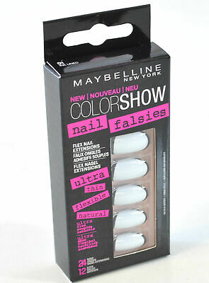MAYBELLINE color show nail falsies false nails in white & black