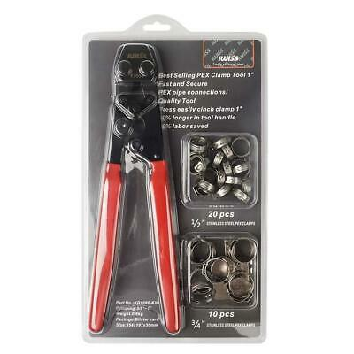 IWISS PEX Pipe Clamp Cinch Tool Crimping Tool Crimper for Stainless Steel Clamps