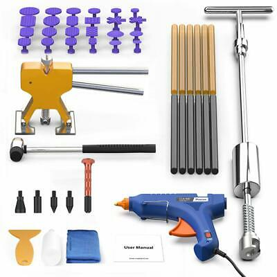 57 PC SET Paintless Dent Repair Removal Kit DIY with Slide Hammer Lifter Puller