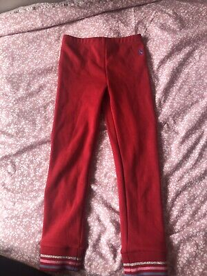 Girls Joules Red Pants Age 6
