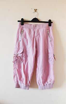 New Look girls kids childrens pink cargo cropped trousers 158 cm 13 years