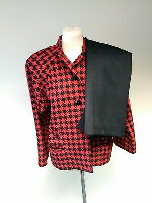 Yves saint laurent Ladies 2 Piece Suit.Size Medium(14) Red And Black Checked