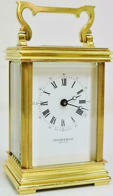Vintage French Classic Brass 8 Day Timepiece Carriage Clock Platform Escapement