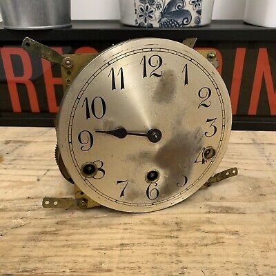 Vintage Clock Mechanism DRGM 15cm  for a Grandmother Clock - Spares or Repair