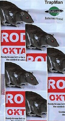 30 Rodex Oktablok Rat & Mouse Poison Killer Bait Blocks by TrapMan